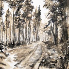 RA302 Monochrome Pines