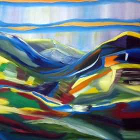 RA126 Abstract Landscape I