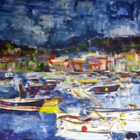 RA221 Harbour Scene I