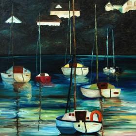 RA250 Boats at Anchor