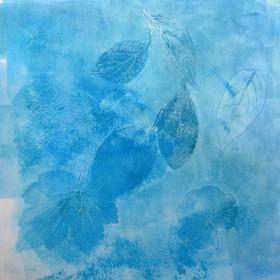 LO244 Blue Leaves