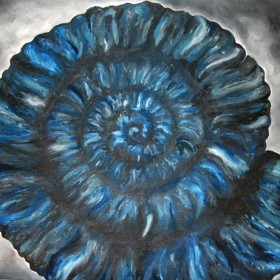 LO381 Blue Ammonite