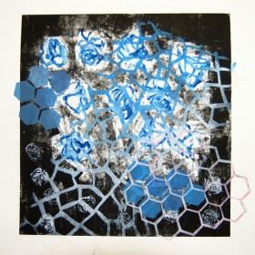LO387 Honeycomb Print I