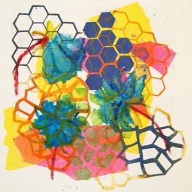LO389 Honeycomb Print III