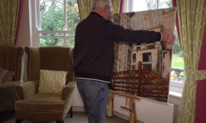 Delivering art to a local care home